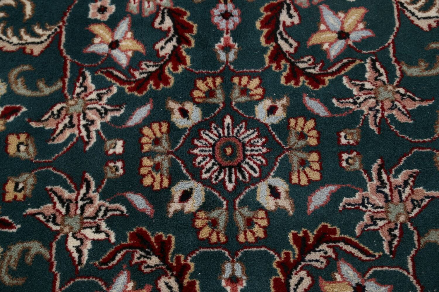 Floral Green Aubusson Oriental Area Rug 8x10 image 10