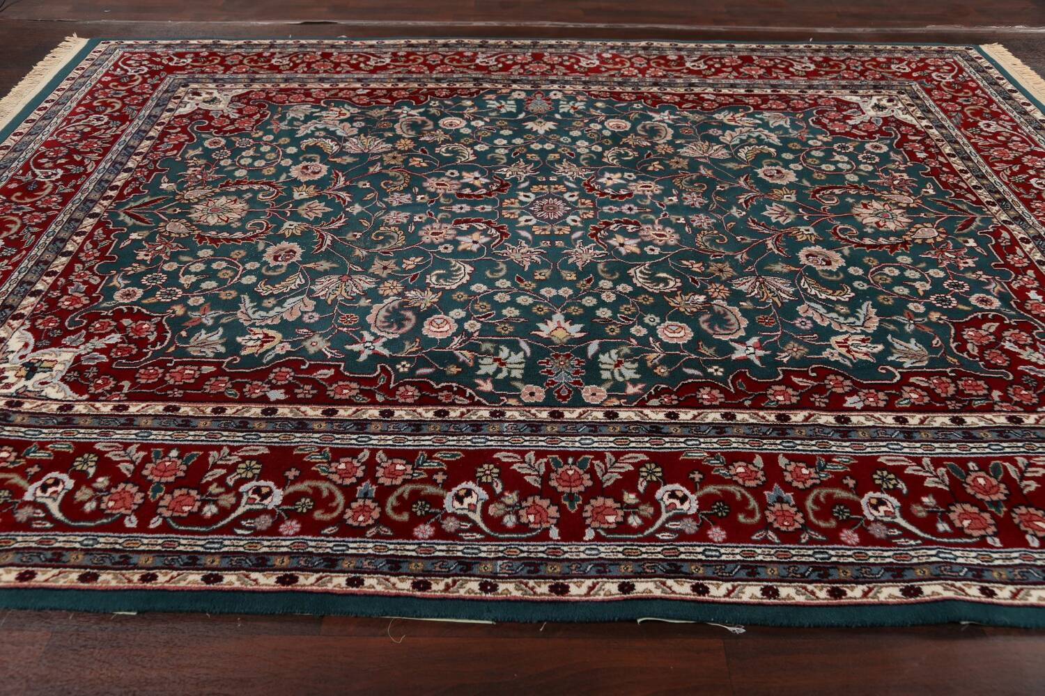 Floral Green Aubusson Oriental Area Rug 8x10 image 15