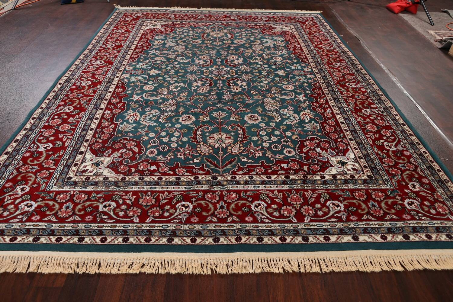 Floral Green Aubusson Oriental Area Rug 8x10 image 16