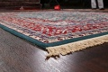 Floral Green Aubusson Oriental Area Rug 8x10 image 6