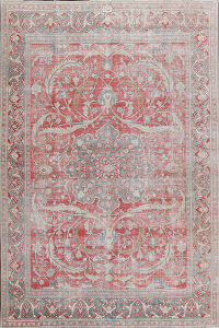 Pre-1900 Antique Vegetable Dye Tabriz Persian Area Rug 8x11