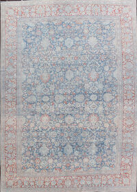 Pre-1900 Antique Vegetable Dye Sultanabad Persian Rug 10x14
