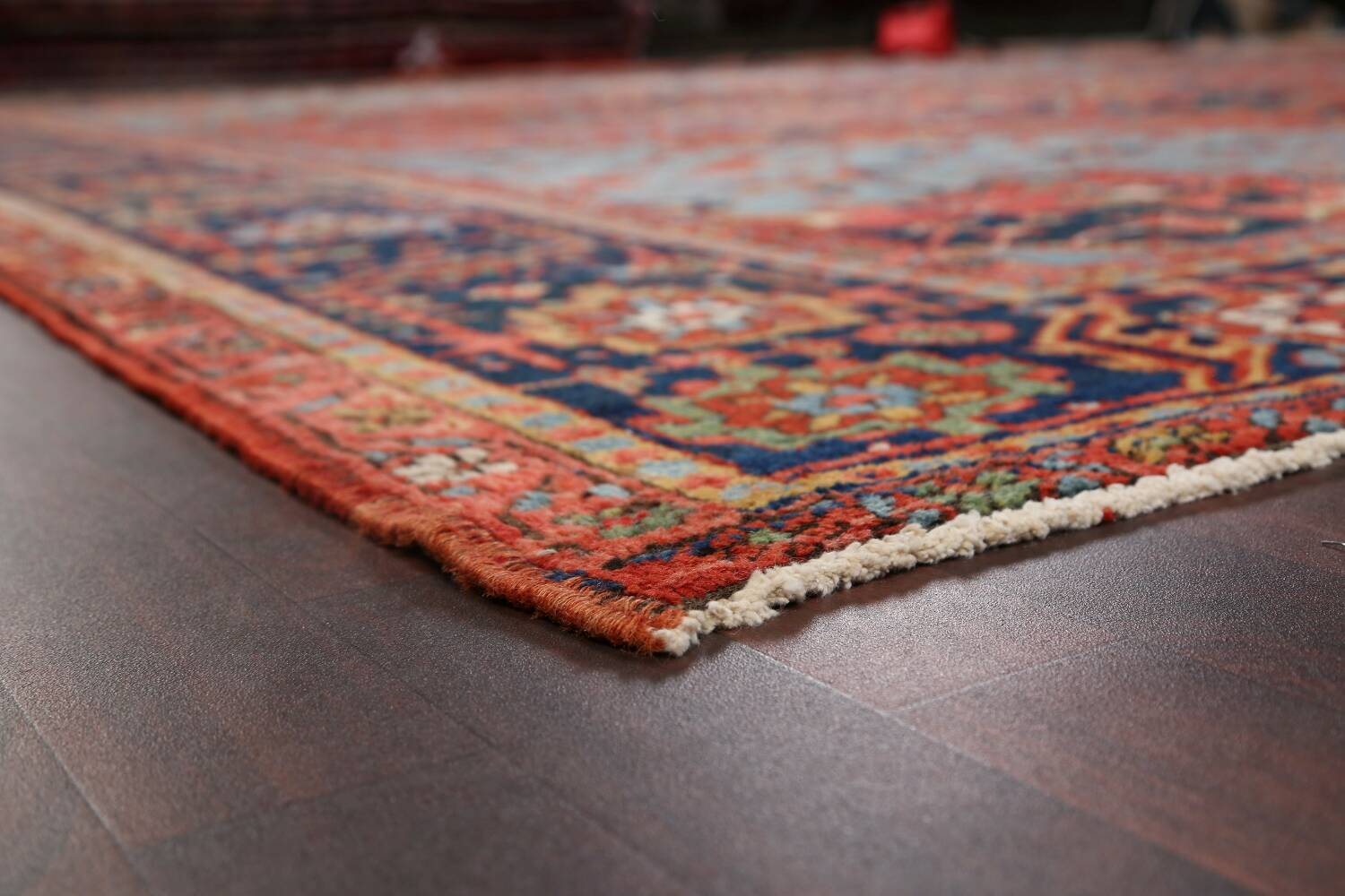 Pre-1900 Antique Vegetable Dye Heriz Serapi Persian Rug 12x14 image 6