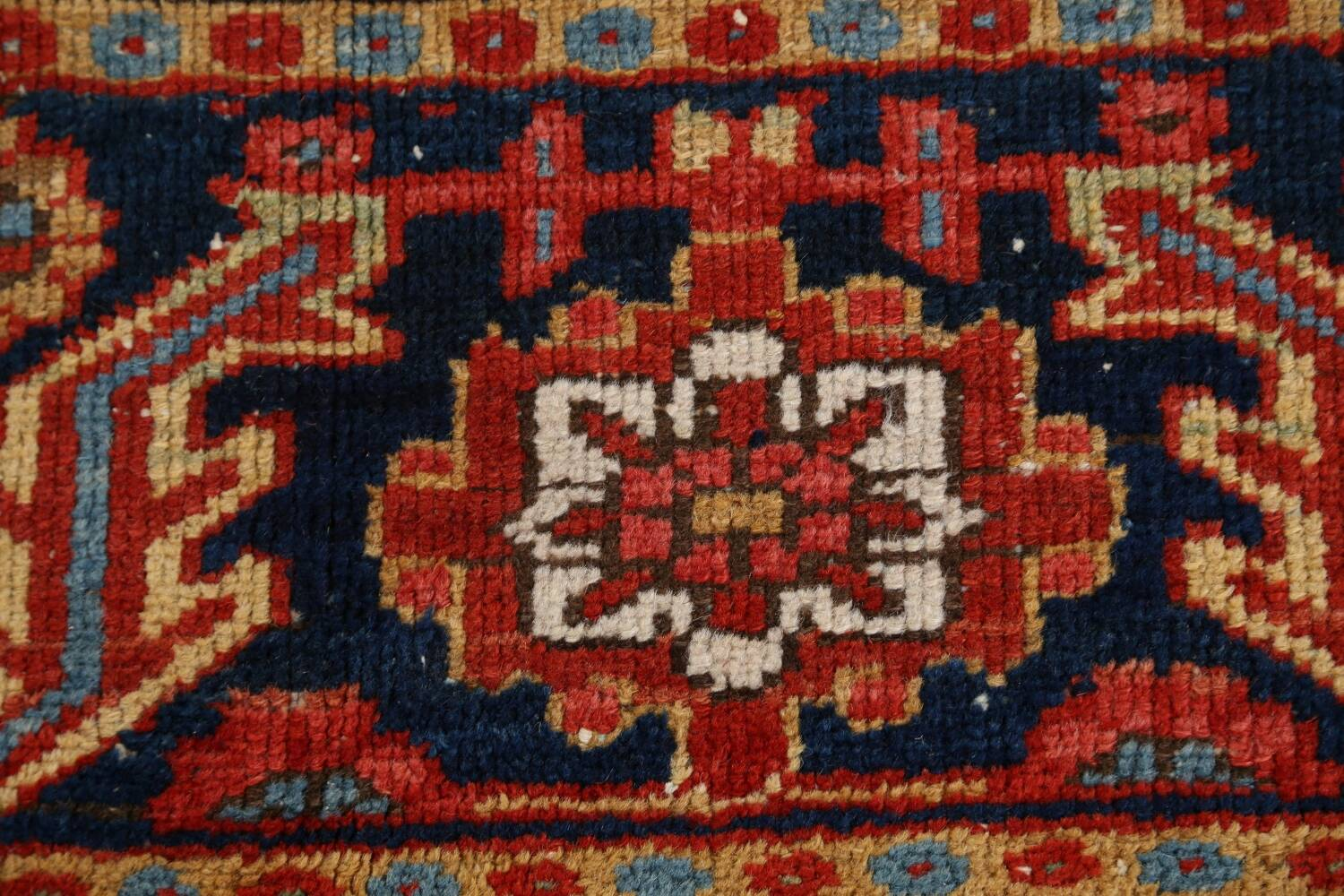 Pre-1900 Antique Vegetable Dye Heriz Serapi Persian Rug 12x14 image 9