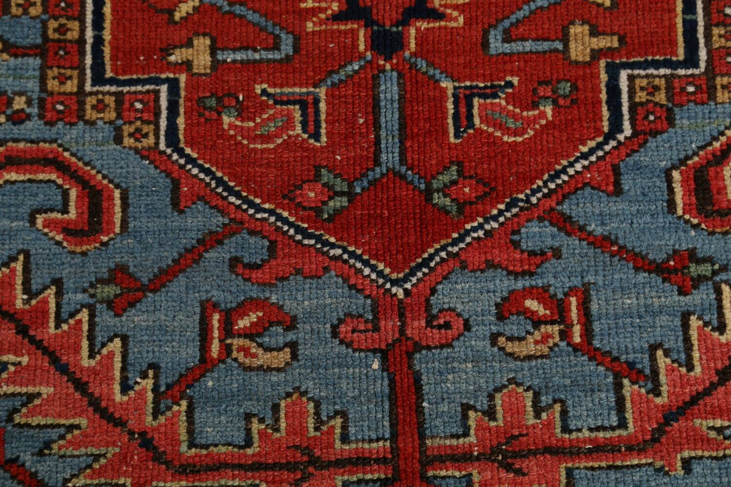 Pre-1900 Antique Vegetable Dye Heriz Serapi Persian Rug 12x14 image 10