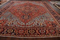 Pre-1900 Antique Vegetable Dye Heriz Serapi Persian Rug 12x14 image 17