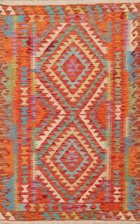 South-Western Geometric Kilim Oriental Area Rug 3x5