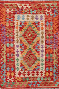 South-Western Reversible Kilim Oriental Area Rug 3x5