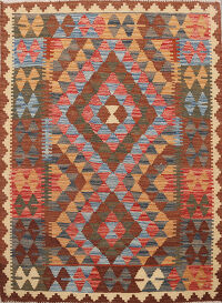 South-Western Reversible Kilim Oriental Area Rug 3x4