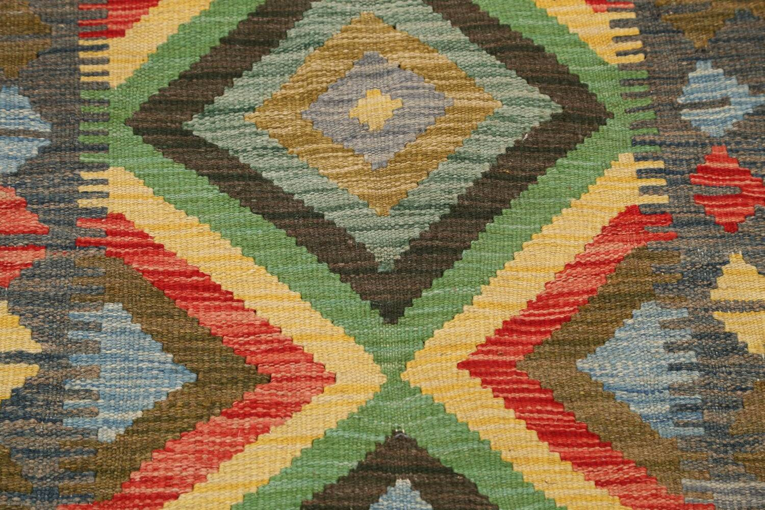 South-Western Reversible Kilim Oriental Area Rug 3x3 Square image 4