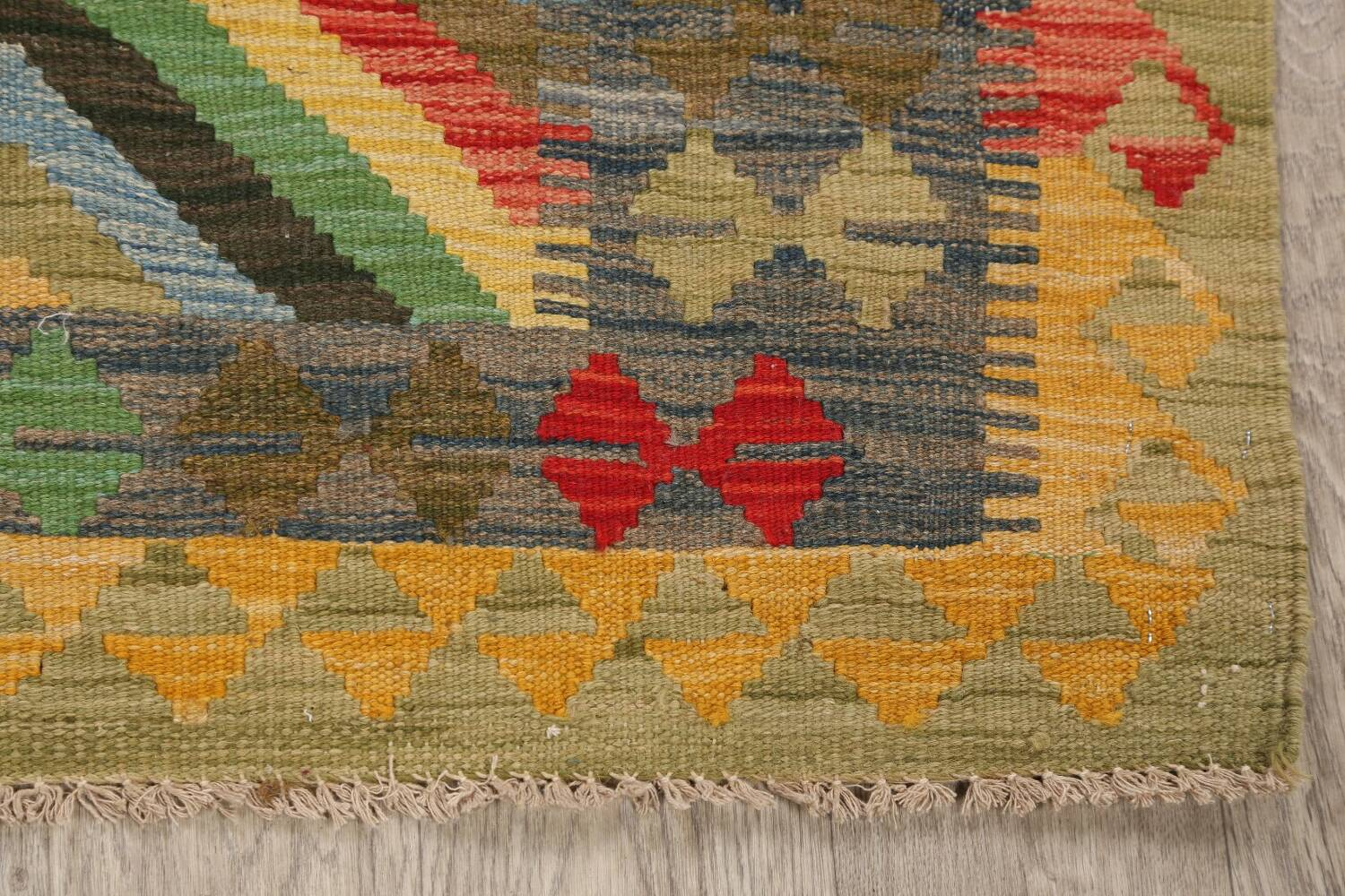 South-Western Reversible Kilim Oriental Area Rug 3x3 Square image 5