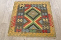 South-Western Reversible Kilim Oriental Area Rug 3x3 Square image 2