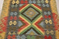 South-Western Reversible Kilim Oriental Area Rug 3x3 Square image 3