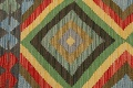 South-Western Reversible Kilim Oriental Area Rug 3x3 Square image 9
