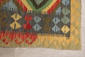 South-Western Reversible Kilim Oriental Area Rug 3x3 Square image 10