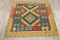 South-Western Reversible Kilim Oriental Area Rug 3x3 Square image 12