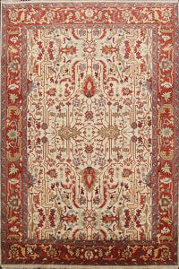 All-Over Heriz Oriental Area Rug 6x9