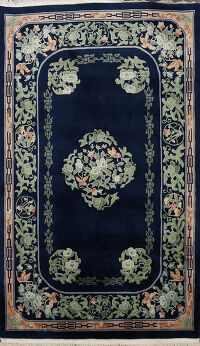 Open Field Art Deco Chinese Area Rug 6x9