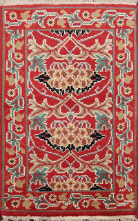 Floral Art & Craft Oriental Area Rug 2x3