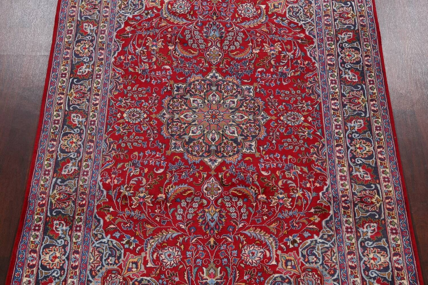 Floral Mashad Persian Red Area Rug 7x10 image 3