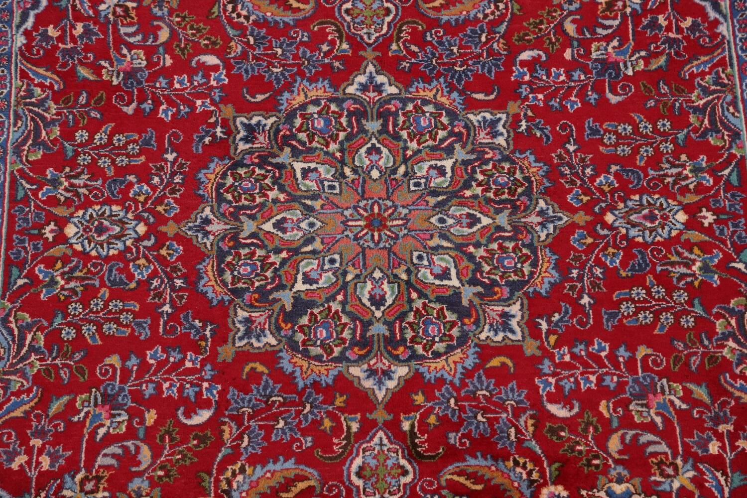 Floral Mashad Persian Red Area Rug 7x10 image 4