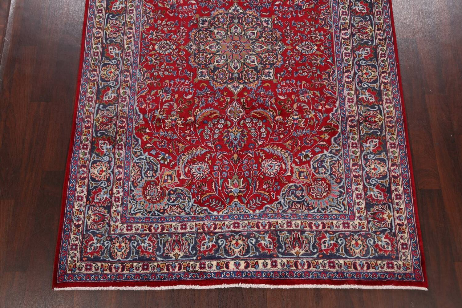 Floral Mashad Persian Red Area Rug 7x10 image 8