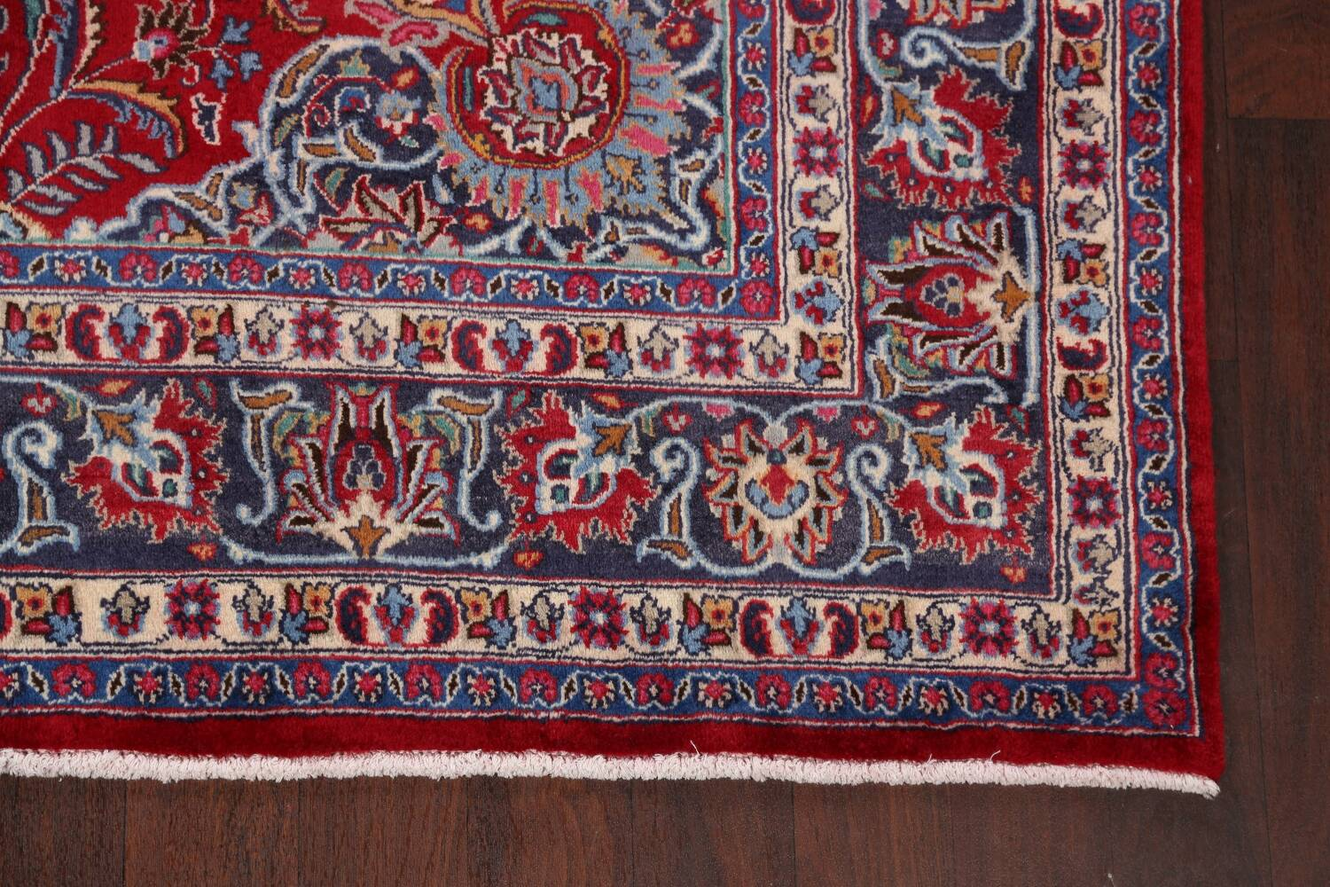 Floral Mashad Persian Red Area Rug 7x10 image 5