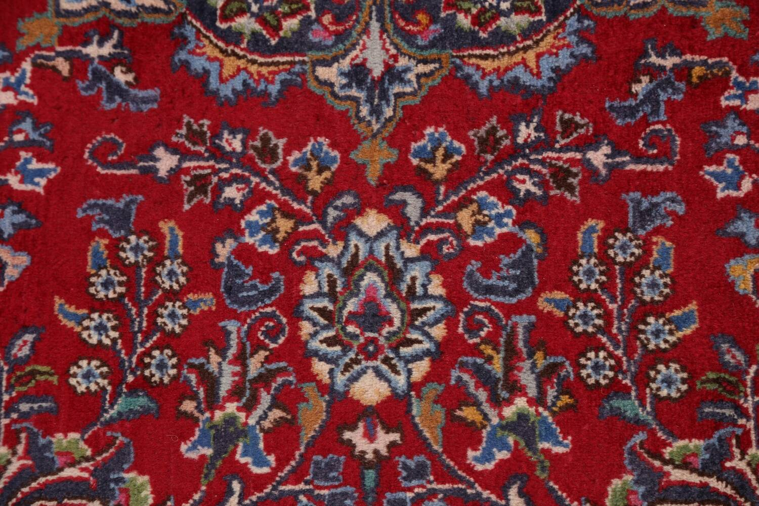 Floral Mashad Persian Red Area Rug 7x10 image 10