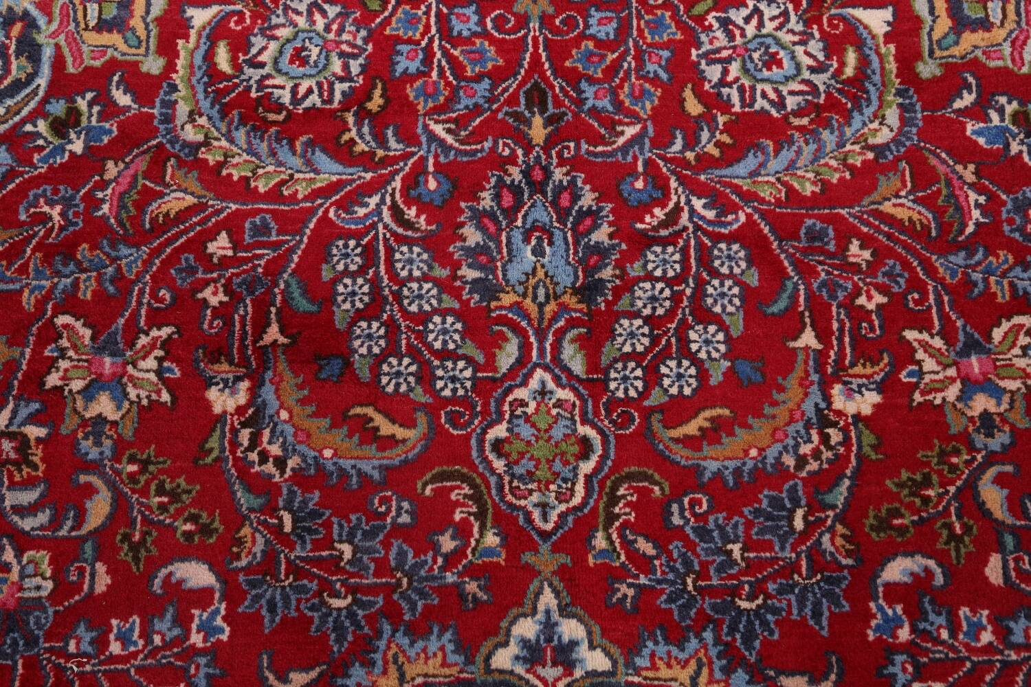 Floral Mashad Persian Red Area Rug 7x10 image 11