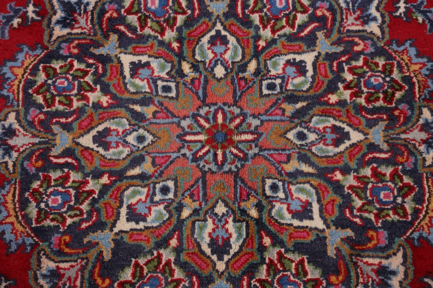 Floral Mashad Persian Red Area Rug 7x10 image 12