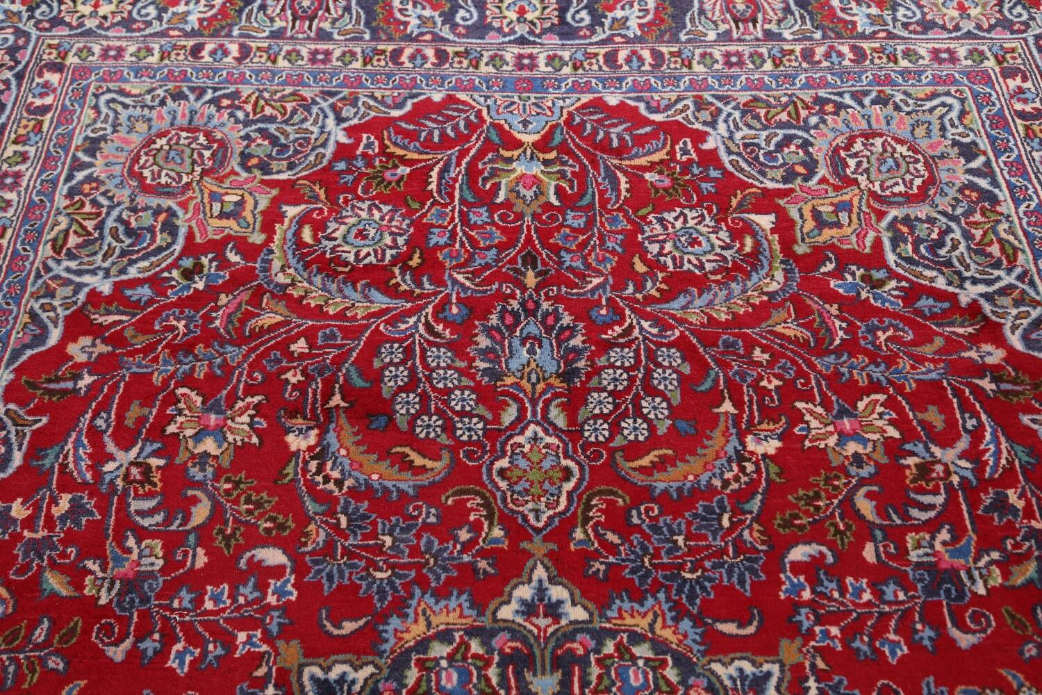 Floral Mashad Persian Red Area Rug 7x10 image 13