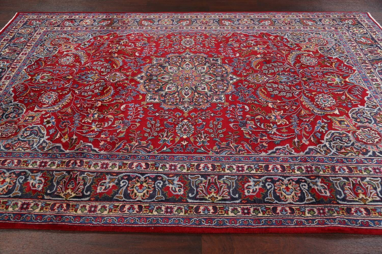 Floral Mashad Persian Red Area Rug 7x10 image 15