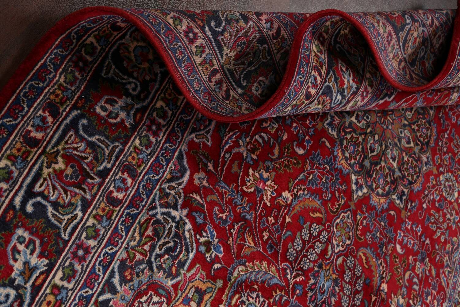 Floral Mashad Persian Red Area Rug 7x10 image 18