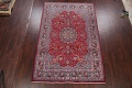 Floral Mashad Persian Red Area Rug 7x10 image 2