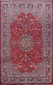 Floral Mashad Persian Red Area Rug 7x10 image 1