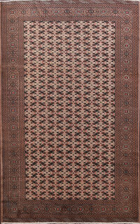All-Over Geometric Bokhara Oriental Area Rug 6x9