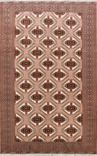All-Over Geometric Bokhara Oriental Area Rug 7x10