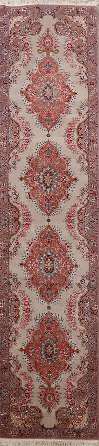 All-Over Floral Tabriz Persian Runner Rug 3x12
