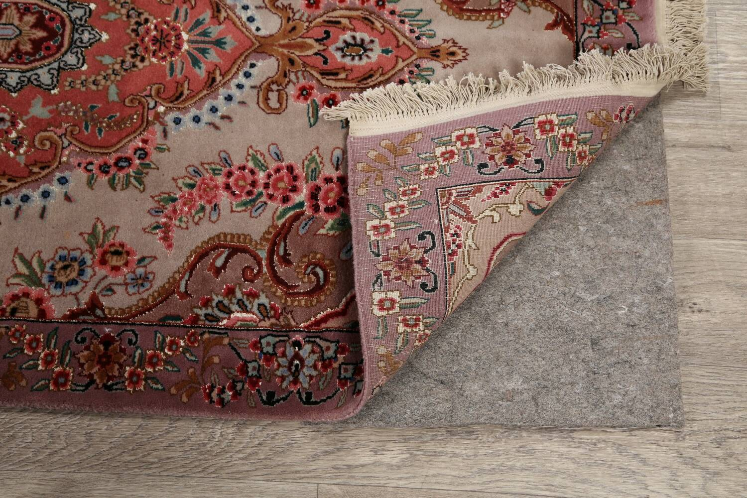 All-Over Floral Tabriz Persian Runner Rug 3x12 image 7