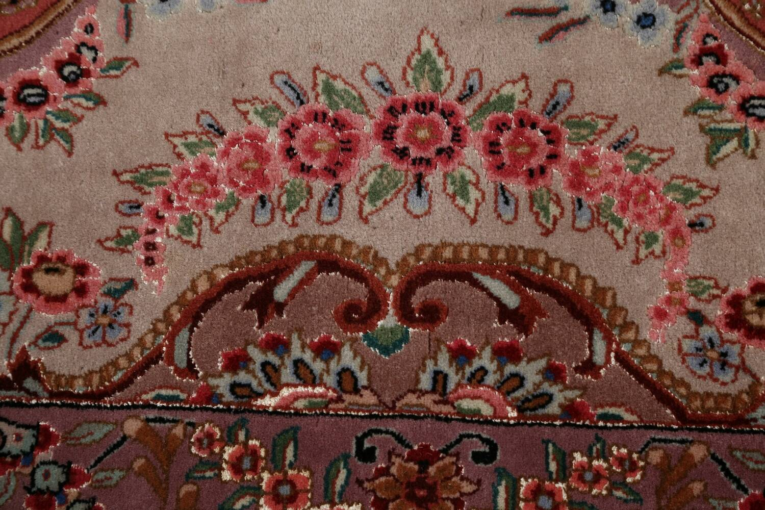 All-Over Floral Tabriz Persian Runner Rug 3x12 image 9