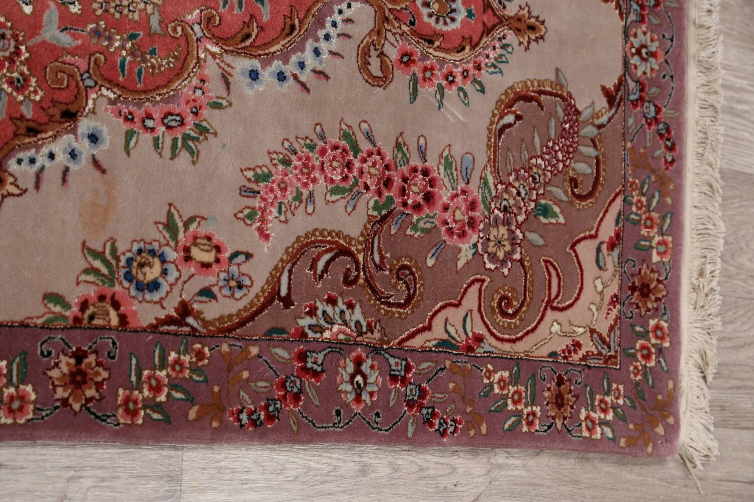 All-Over Floral Tabriz Persian Runner Rug 3x12 image 12