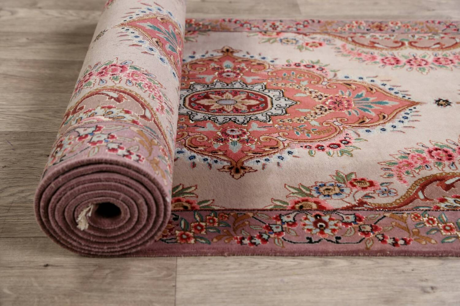 All-Over Floral Tabriz Persian Runner Rug 3x12 image 16