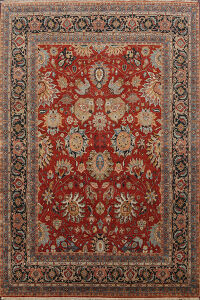 Vegetable Dye Floral Heriz Serapi Oriental Area Rug 8x10
