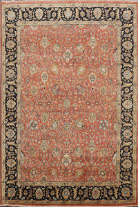 Vegetable Dye Floral Oushak Oriental Area Rug 8x10