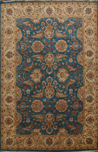 Vegetable Dye Floral Sultanabad Oriental Area Rug 10x14