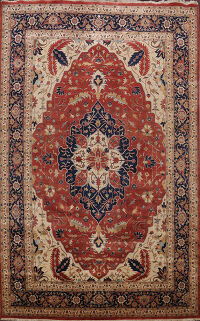 Vegetable Dye Heriz Oriental Area Rug 10x15