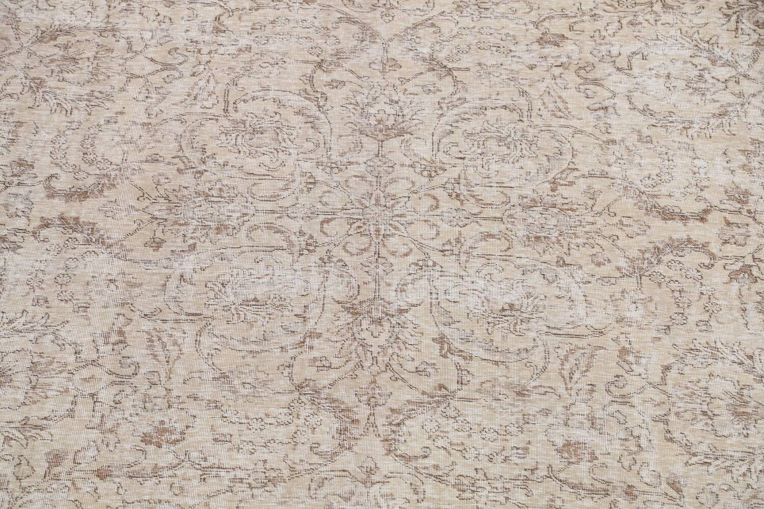 Antique Muted Floral Tabriz Persian Area Rug 9x12 image 4