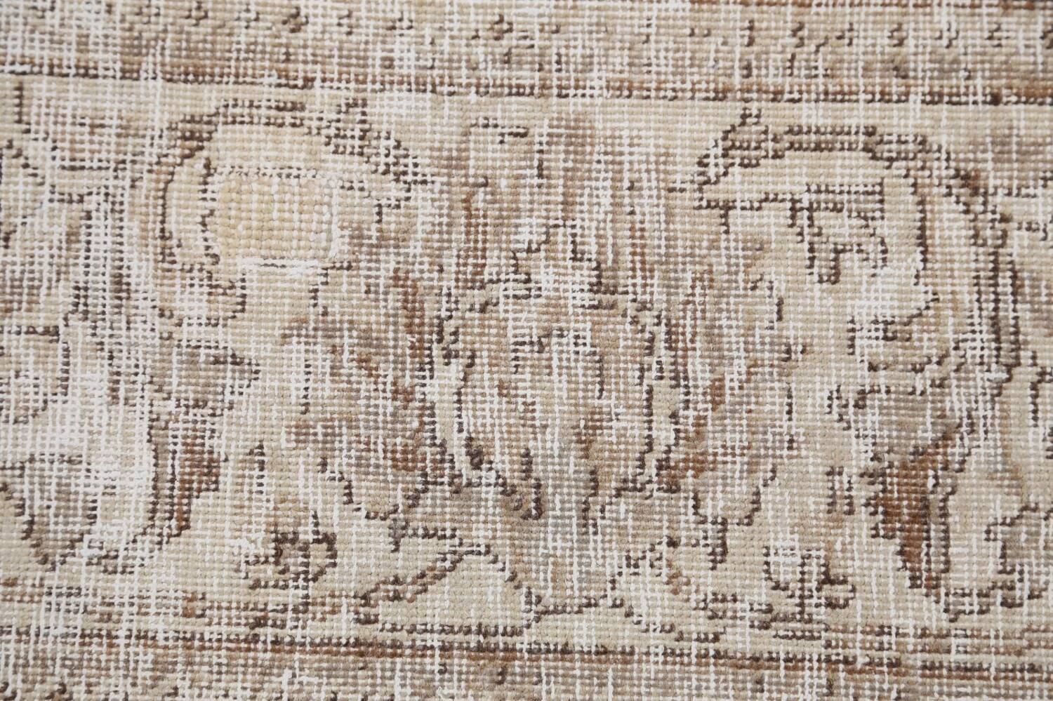 Antique Muted Floral Tabriz Persian Area Rug 9x12 image 9