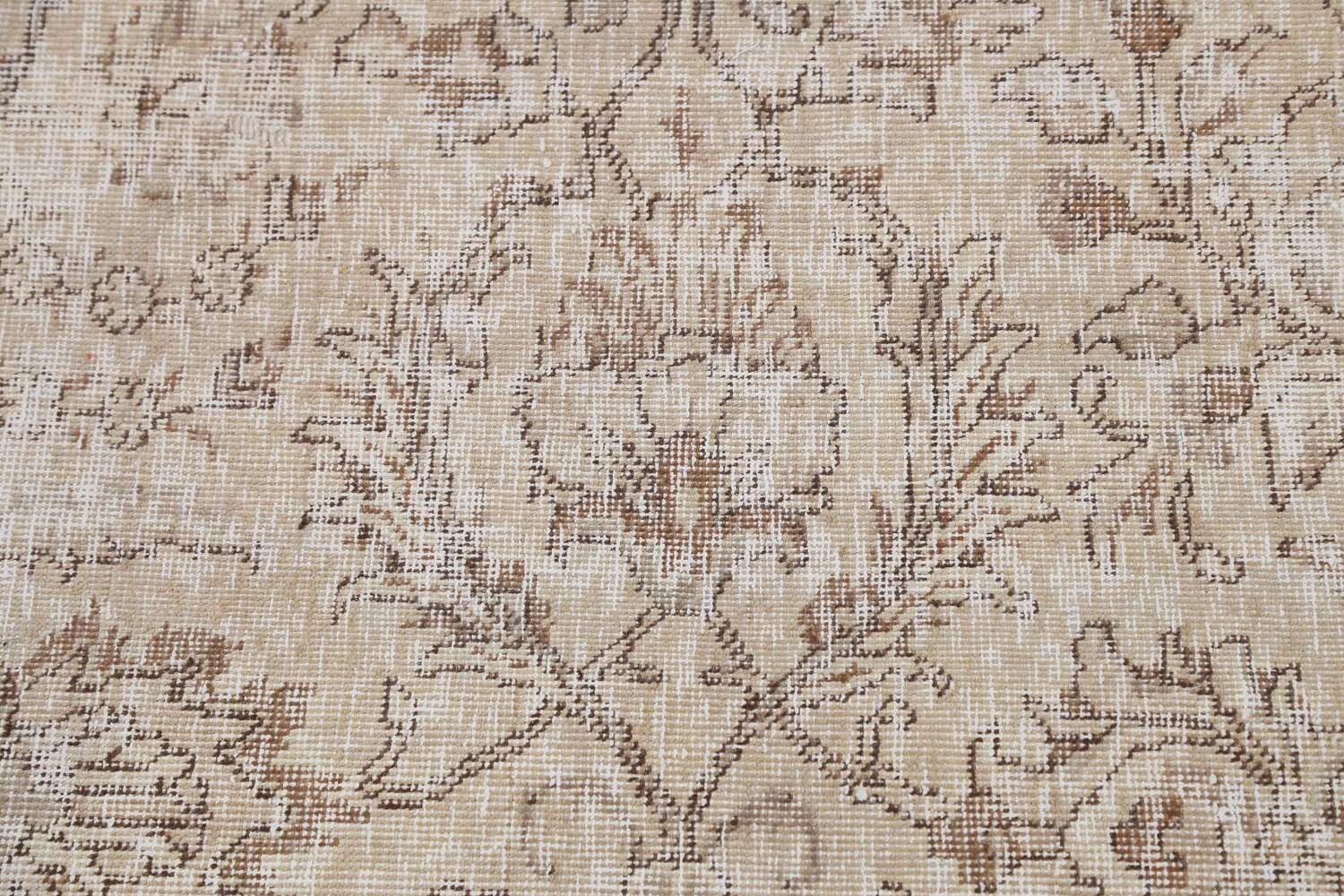 Antique Muted Floral Tabriz Persian Area Rug 9x12 image 10