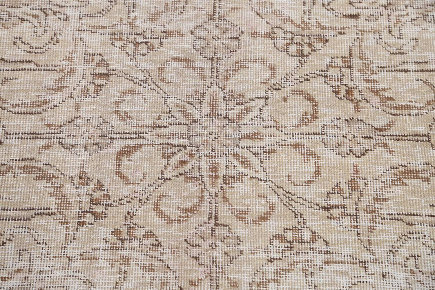Antique Muted Floral Tabriz Persian Area Rug 9x12 image 11